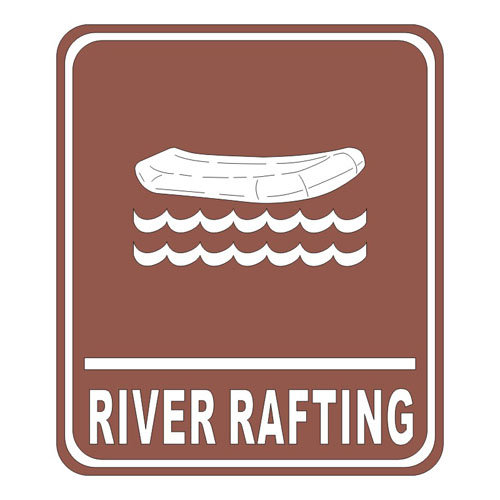 Scrapbook Customs - Sports Collection - Laser Cut - River Rafting Sign