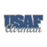 Scrapbook Customs - United States Military Collection - Laser Cut Word - USAF Airman