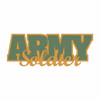 Scrapbook Customs - United States Military Collection - Laser Cut Word - Army Soldier