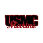 Scrapbook Customs - United States Military Collection - Laser Cut Word - USMC Marine