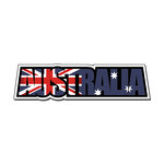 Scrapbook Customs - Travel Photo Journaling - Flag Word - Laser Cut - Australia