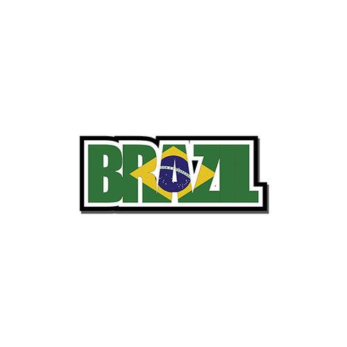 Scrapbook Customs - Travel Photo Journaling - Flag Word - Laser Cut - Brazil