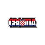 Scrapbook Customs - Travel Photo Journaling - Flag Word - Laser Cut - Croatia
