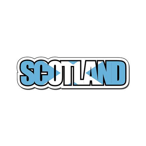 Scrapbook Customs - Travel Photo Journaling - Flag Word - Laser Cut - Scotland