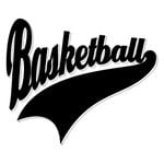 Scrapbook Customs - Sports Collection - Laser Cut - Sports Tails - Basketball