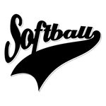 Scrapbook Customs - Sports Collection - Laser Cut - Sports Tails - Softball