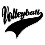 Scrapbook Customs - Sports Collection - Laser Cut - Sports Tails - Volleyball