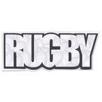 Scrapbook Customs - Word Image - Laser Cut - Rugby
