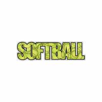 Scrapbook Customs - Word Image - Laser Cut - Softball