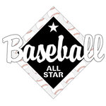 Scrapbook Customs - Baseball Life Collection - Laser Cut - Baseball All Star