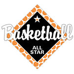 Scrapbook Customs - Basketball Life Collection - Laser Cut - Basketball All Star
