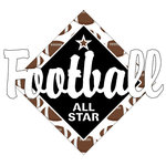 Scrapbook Customs - Football Life Collection - Laser Cut - Football All Star