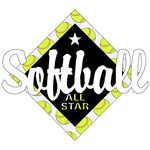 Scrapbook Customs - Softball Life Collection - Laser Cut - Softball All Star