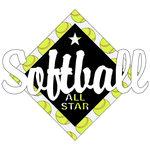 Scrapbook Customs - Softball Life Collection - Laser Cut - Softball All Star