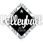 Scrapbook Customs - Volleyball Life Collection - Laser Cut - Volleyball All Star