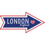Scrapbook Customs - Travel Adventure Collection - Laser Cut - London Memories Arrow
