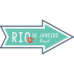 Scrapbook Customs - Travel Adventure Collection - Laser Cut - Rio de Janeiro Memories Arrow