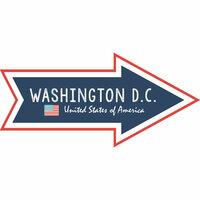 Scrapbook Customs - Travel Adventure Collection - Laser Cut - Washington D.C. Memories Arrow