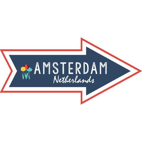 Scrapbook Customs - Travel Adventure Collection - Laser Cut - Amsterdam Memories Arrow