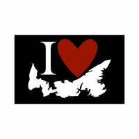 Scrapbook Customs - Canadian Province Adventure Collection - Laser Cut - I Love Prince Edward Island