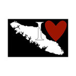 Scrapbook Customs - Canadian Province Adventure Collection - Laser Cut - I Love Vancouver Island