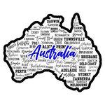 Scrapbook Customs - Sights Collection - Laser Cut - City - Australia