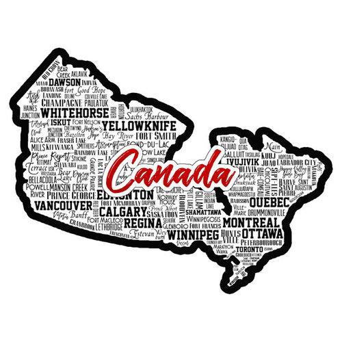 Scrapbook Customs - Sights Collection - Laser Cut - City - Canada