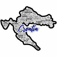 Scrapbook Customs - Sights Collection - Laser Cut - City - Croatia