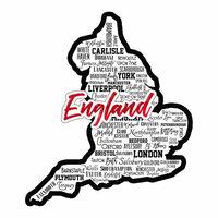 Scrapbook Customs - Sights Collection - Laser Cut - City - England