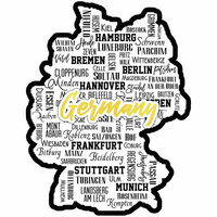 Scrapbook Customs - Sights Collection - Laser Cut - City - Germany