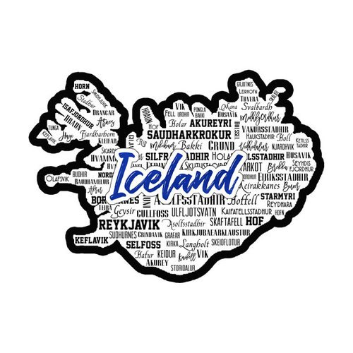 Scrapbook Customs - Sights Collection - Laser Cut - City - Iceland