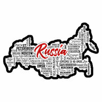 Scrapbook Customs - Sights Collection - Laser Cut - City - Russia