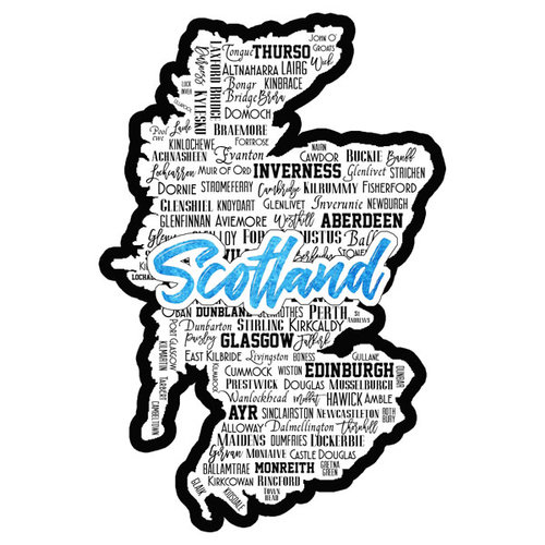Scrapbook Customs - Sights Collection - Laser Cut - City - Scotland
