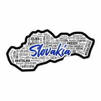 Scrapbook Customs - Sights Collection - Laser Cut - City - Slovakia