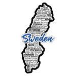 Scrapbook Customs - Sights Collection - Laser Cut - City - Sweden