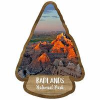 Scrapbook Customs - United States National Parks Collection - Laser Cut - Watercolor - Badlands National Park