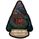Scrapbook Customs - United States National Parks Collection - Laser Cut - Watercolor - Canyonlands National Park