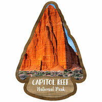 Scrapbook Customs - United States National Parks Collection - Laser Cut - Watercolor - Capitol Reef National Park