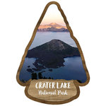 Scrapbook Customs - United States National Parks Collection - Laser Cut - Watercolor - Crater Lake National Park