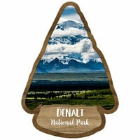 Scrapbook Customs - United States National Parks Collection - Laser Cut - Watercolor - Denali National Park