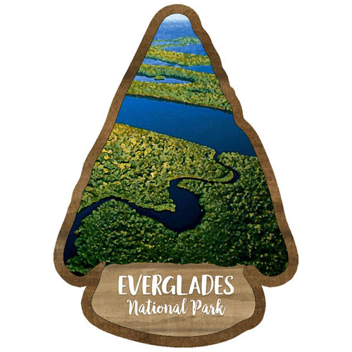 Scrapbook Customs - United States National Parks Collection - Laser Cut - Watercolor - Everglades National Park