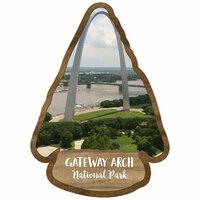 Scrapbook Customs - United States National Parks Collection - Laser Cut - Watercolor - Gateway Arch National Park