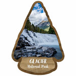 Scrapbook Customs - United States National Parks Collection - Laser Cut - Watercolor - Glacier National Park