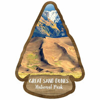 Scrapbook Customs - United States National Parks Collection - Laser Cut - Watercolor - Great Sand Dunes National Park