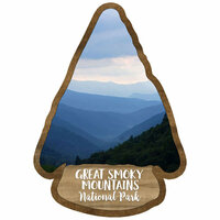 Scrapbook Customs - United States National Parks Collection - Laser Cut - Watercolor - Great Smoky Mountains National Park