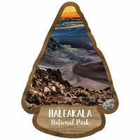Scrapbook Customs - United States National Parks Collection - Laser Cut - Watercolor - Haleakala National Park