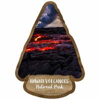 Scrapbook Customs - United States National Parks Collection - Laser Cut - Watercolor - Hawaii Volcanoes National Park