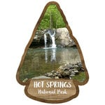 Scrapbook Customs - United States National Parks Collection - Laser Cut - Watercolor - Hot Springs National Park