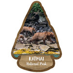Scrapbook Customs - United States National Parks Collection - Laser Cut - Watercolor - Katmai National Park