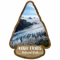 Scrapbook Customs - United States National Parks Collection - Laser Cut - Watercolor - Kenai Fjords National Park